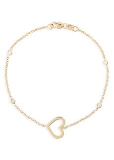 Roberto Coin Side Heart Diamond Station Bracelet