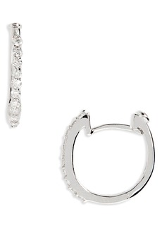 Roberto Coin Small Diamond Hoop Earrings