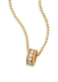 Roberto Coin Symphony Braided Diamond & 18K Yellow Gold Pendant Necklace