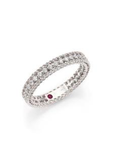 Roberto Coin Symphony Diamond & 18K White Gold Ring