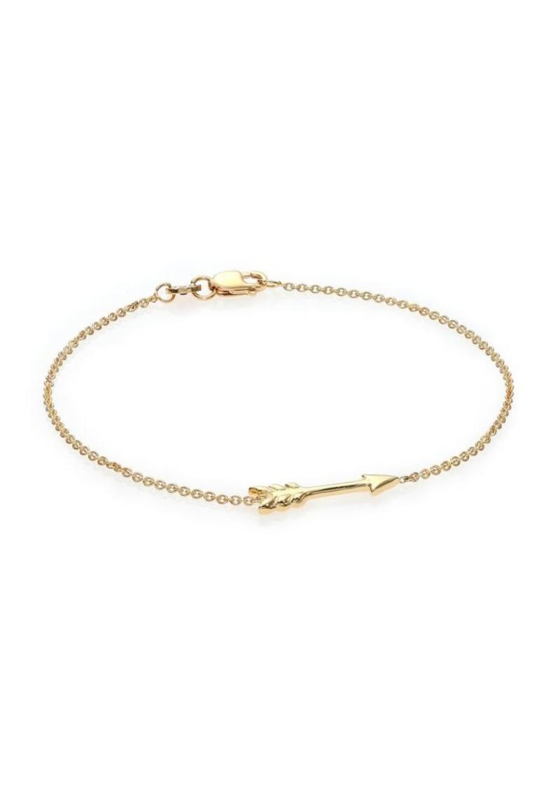 Roberto Coin Tiny Treasures 18K Yellow Gold Arrow Bracelet