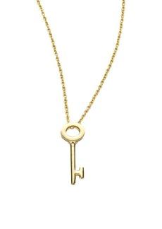 Roberto Coin Tiny Treasures 18K Yellow Gold Key Pendant Necklace