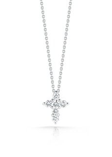 Roberto Coin Tiny Treasures Diamond Cross Pendant Necklace