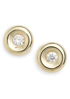 Roberto Coin Tiny Treasures Diamond Stud Earrings