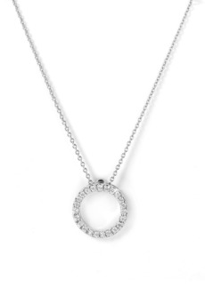 Roberto Coin 'Tiny Treasures' Small Diamond Circle Pendant Necklace