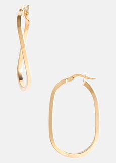 Roberto Coin Twisted Gold Hoop Earrings