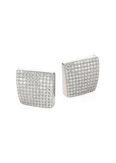 Roberto Coin Sauvage Privé 18K White Gold & Diamond Earrings