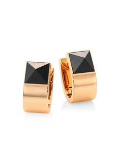Roberto Coin Sauvage Privé Pyramid Black Jade & 18K Rose Gold Earrings