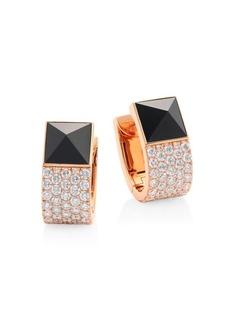 Roberto Coin Sauvage Privé Pyramid Pave Diamond & Black Jade Earrings