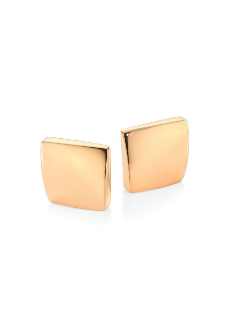 Roberto Coin Sauvage Prive 18k Rose Gold Square Stud Earrings