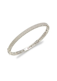Roberto Coin Symphony Barocco 18K White Gold Bangle