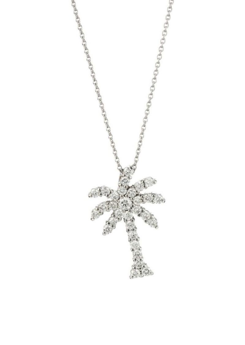 89c38ee55e345 Tiny Treasures 18K White Gold & Diamond Palm Tree Pendant Necklace