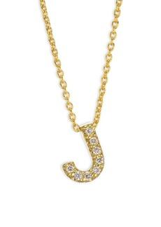 Roberto Coin Tiny Treasures 18K Yellow Gold & Diamond Initial Necklace