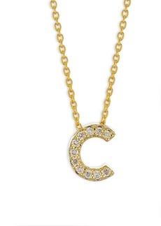Roberto Coin Tiny Treasures 18K Yellow Gold & Diamond Letter C Necklace