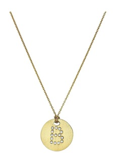 Roberto Coin Tiny Treasures 18K Yellow Gold Initial B Pendant Necklace