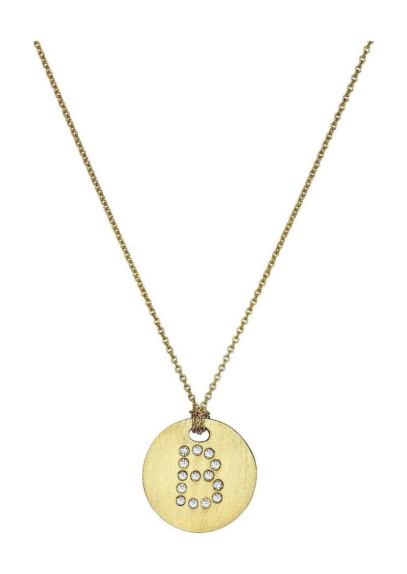 Roberto Coin Tiny Treasures 18K Yellow Gold Initial B Pendant Necklace