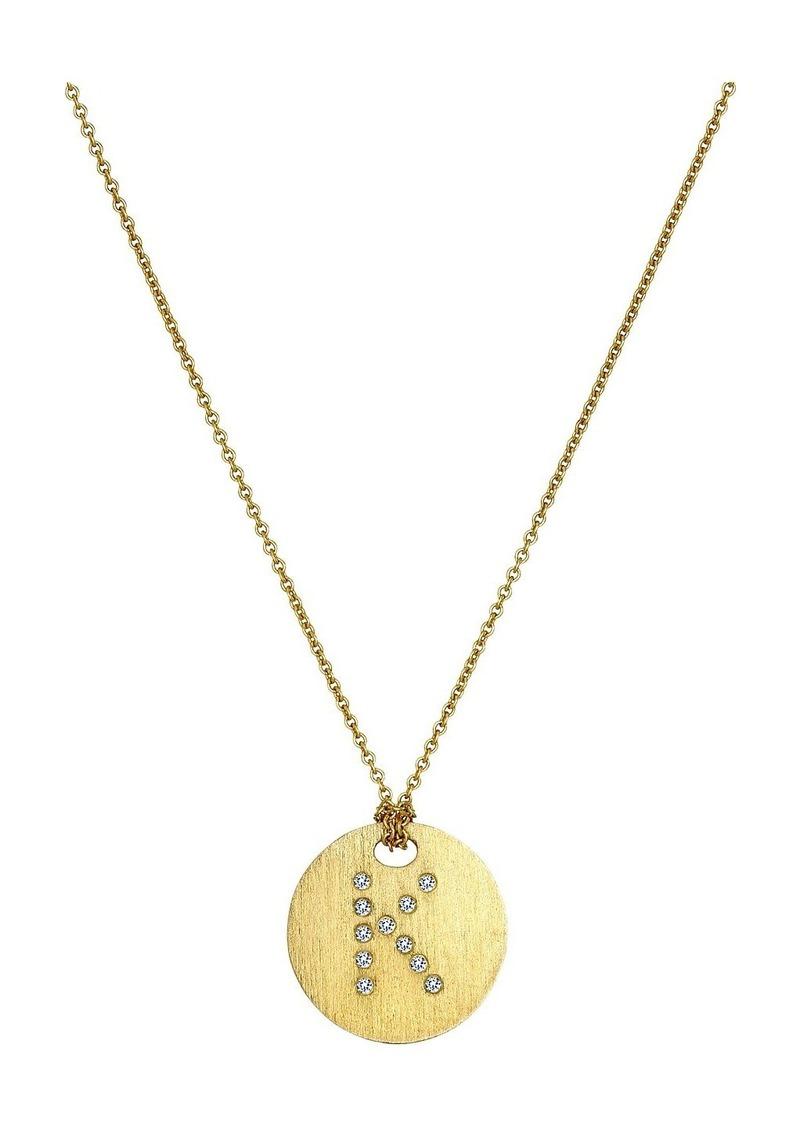 Roberto Coin Tiny Treasures 18K Yellow Gold Initial K Pendant Necklace
