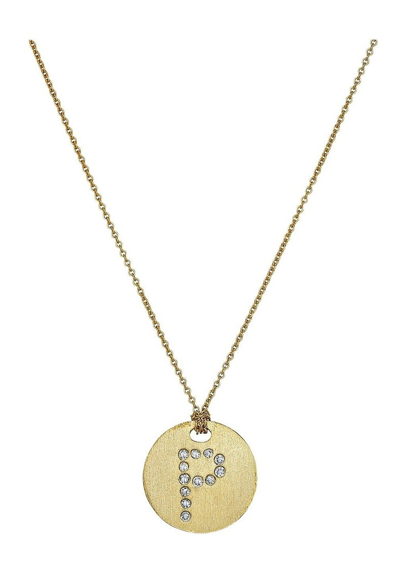 Roberto Coin Tiny Treasures 18K Yellow Gold Initial P Pendant Necklace