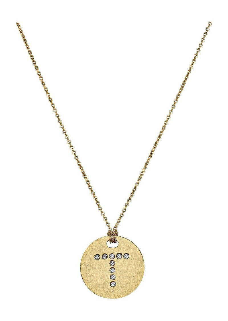 Roberto Coin Tiny Treasures 18K Yellow Gold Initial T Pendant Necklace