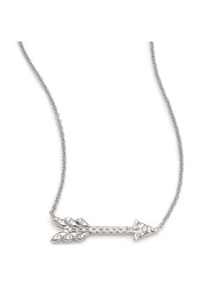 Roberto Coin Tiny Treasures Diamond & 18K White Gold Arrow Necklace