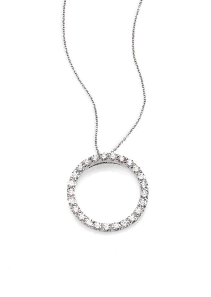 f567c7e920f Tiny Treasures Diamond & 18K White Gold Circle Pendant Necklace