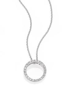 Roberto Coin Tiny Treasures Diamond & 18K White Gold Petite Circle Pendant Necklace