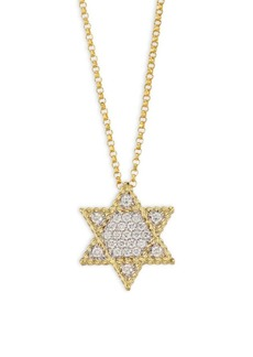 Roberto Coin Princess Diamond & 18K Yellow Gold Star Of David Necklace