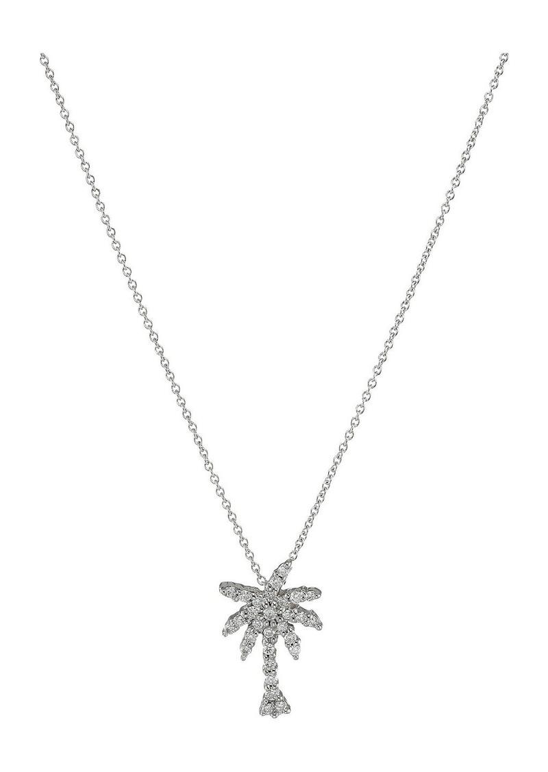 Roberto Coin Tiny Treasures Palm Tree Necklace with Diamonds