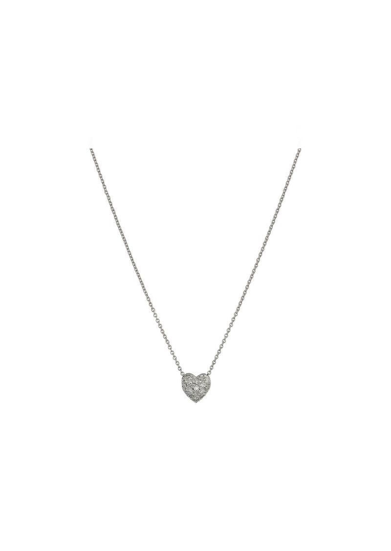 Roberto Coin Tiny Treasures Puffed Heart Pendant with Diamonds