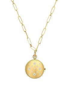 Roberto Coin Venetian Princess 18K Yellow Gold & Diamond Locket Necklace