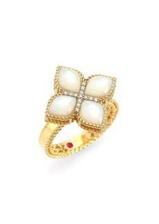 Roberto Coin Venetian Princess 18K Yellow Gold, Mother-of-Pearl & Diamond Ring