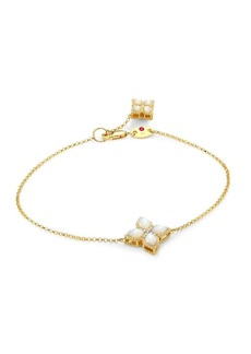 Roberto Coin Venetian Princess Diamonds, Mother-of-Pearl & 18K Yellow Gold Bracelet