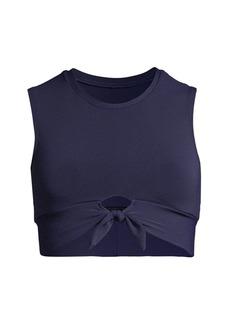 Robin Piccone Eva Front Tie Tank Bikini Top