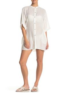 Robin Piccone Michelle Button Front Kaftan Shirt