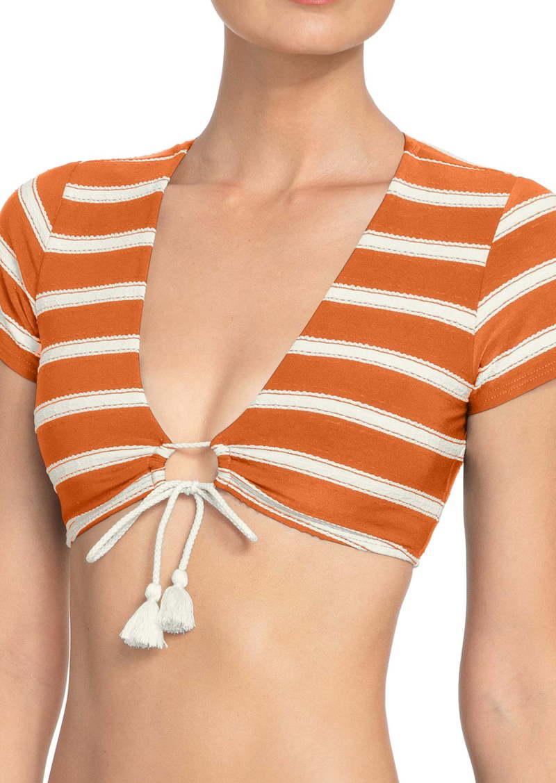 Robin Piccone Abi Tie Front Bikini Top