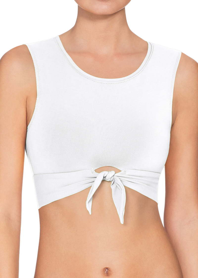 Robin Piccone Ava Longline Knot Front Bikini Top