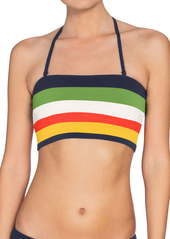 Robin Piccone Casey Colorblock Bandeau Bikini Top