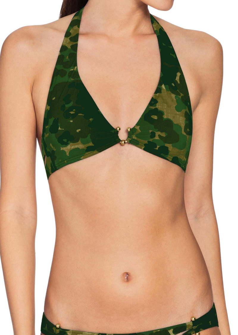 Robin Piccone Eden Halter Camo Bikini Top