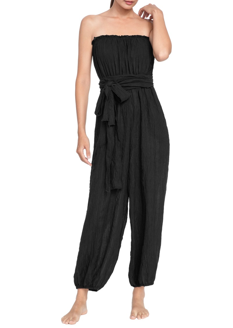 Robin Piccone Michelle Strapless Cover-Up Jumpsuit