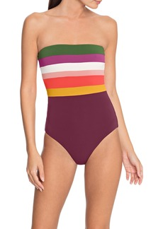 Robin Piccone One-Piece Bandeau Swimsuit
