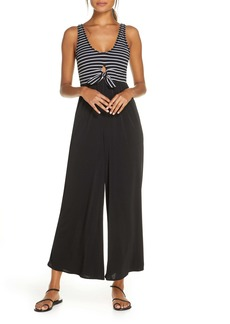 Robin Piccone Sailor Wide Leg Cover-Up Jumpsuit