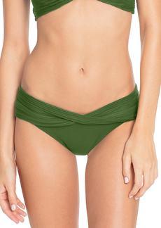 Robin Piccone Twist Waistband Hipster Bikini Bottoms