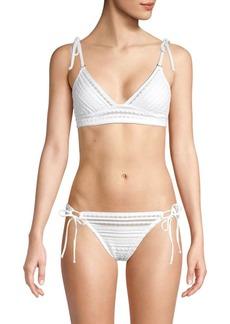 Robin Piccone Textured Bikini Top