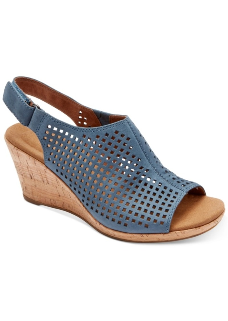 rockport rockport briah wedge sandals s shoes