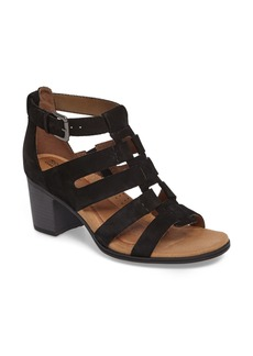 Rockport Cobb Hill Hattie Block Heel Gladiator Sandal (Women)