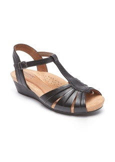 Rockport Cobb Hill Hollywood Pleat Wedge Sandal (Women)