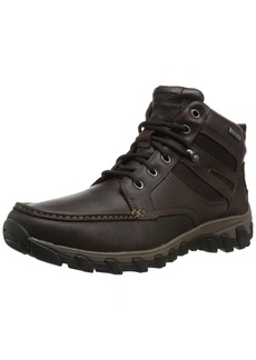 Rockport Men's Cold Springs Plus Mocc Toe Boot - High 7 Eyelets Dark Brown Tumbled Leather 11 M (D)-