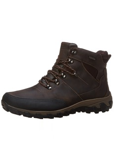 Rockport Men's Cold Springs Plus Mudguard Boot - Speed Lace Dark Brown Oiled Leather  (EE)-