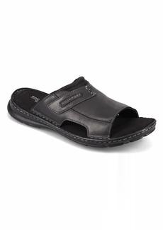 Rockport Men's Darwyn Slide 2 Sandal BLACK LEA II
