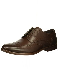 Rockport Men's Derby Room Wingtip Shoe brown 11 M US